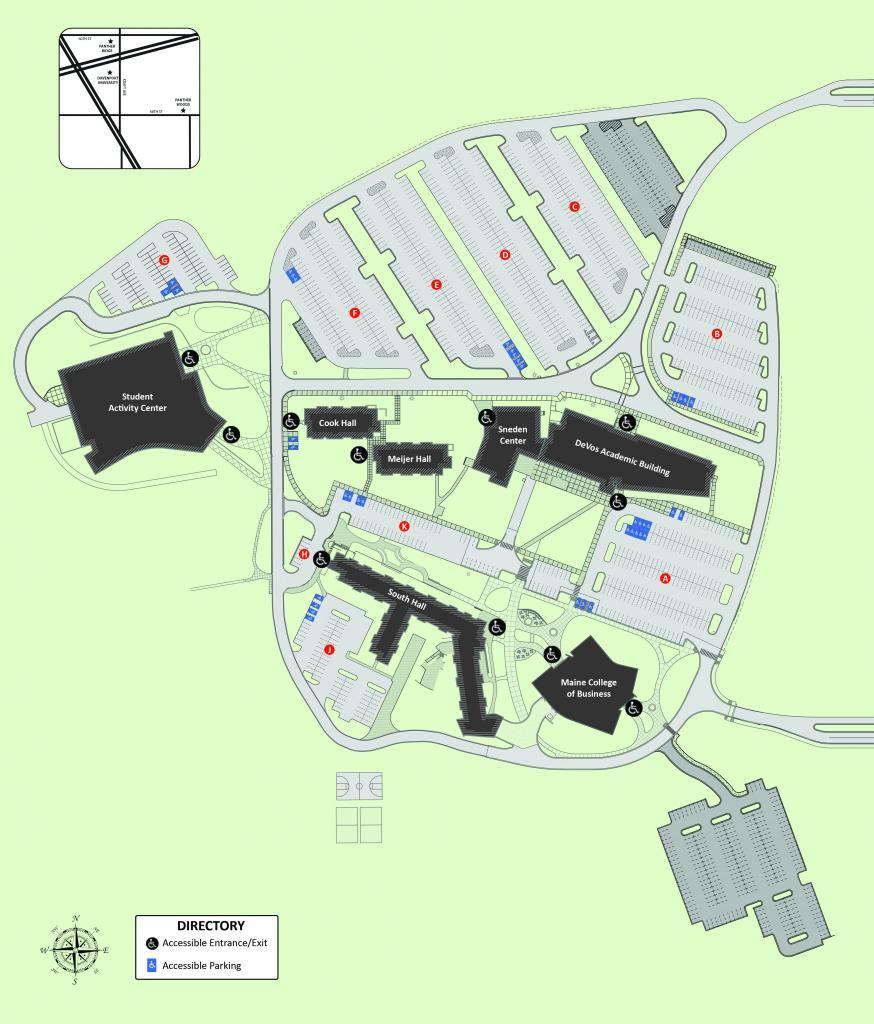 Accessibility Map Davenport University