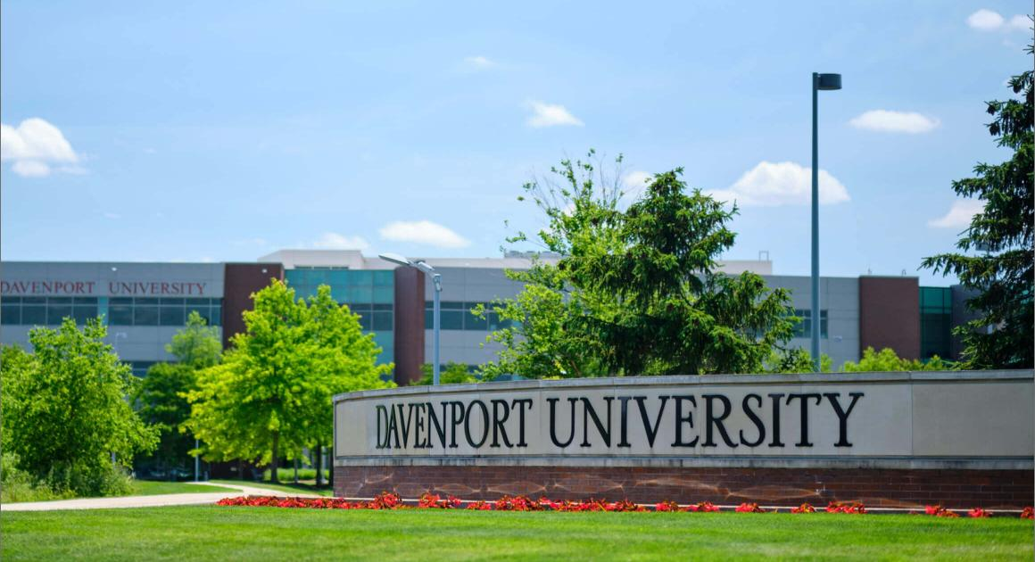 Davenport University sign on campus