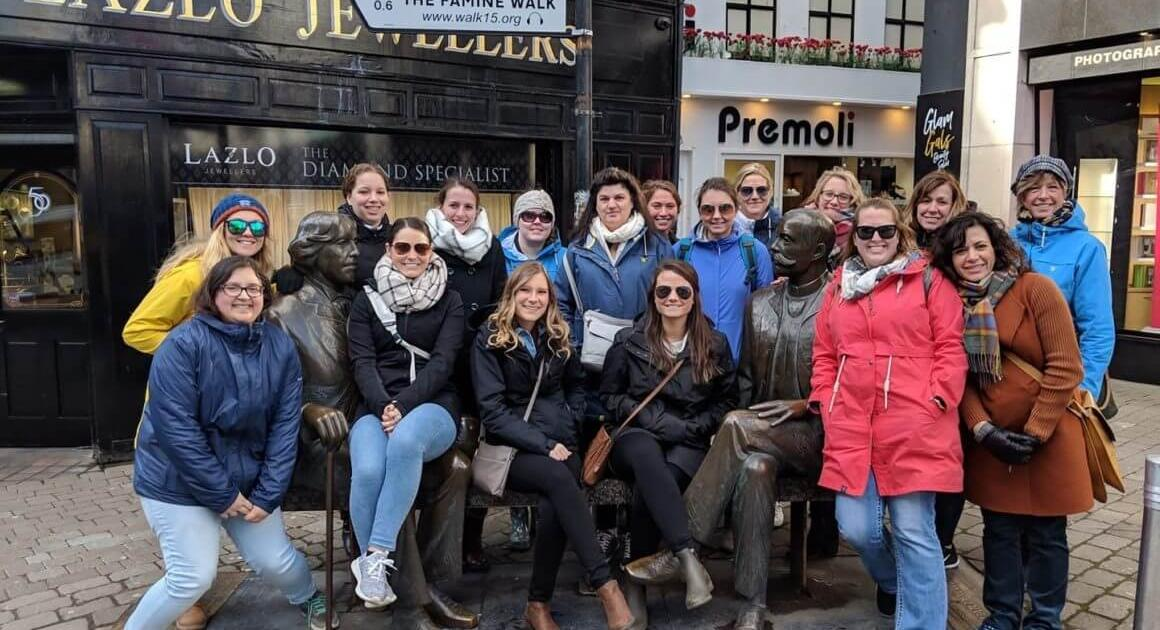 Davenport students studying abroad in Ireland